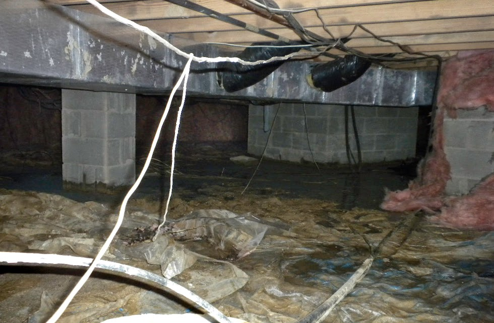 Flooded Ohio Crawlspace
