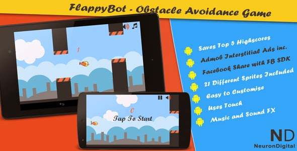Free Download FlappyBot Game Source Code Codecanyon