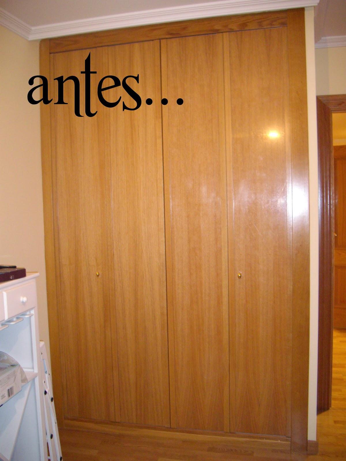 Carlos anchundia renovar un armario el lacado for Cambiar el color de las puertas