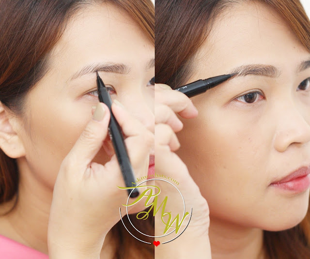 a photo on how to use Kate Lasting Eyebrow W in BR-3