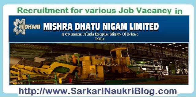 Naukri Vacancy Recruitment Midhani