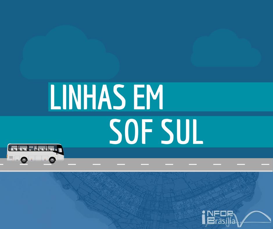 Horário de ônibus das linhas do SOF Sul