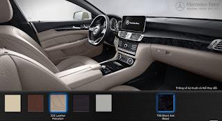 Nội thất Mercedes CLS 400 2017 màu Vàng Porcelain 225