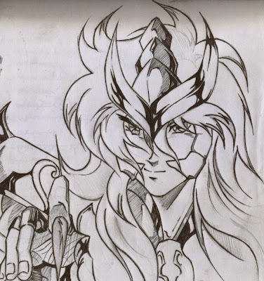Saint Seiya Milo Escorpião fan art finalizado