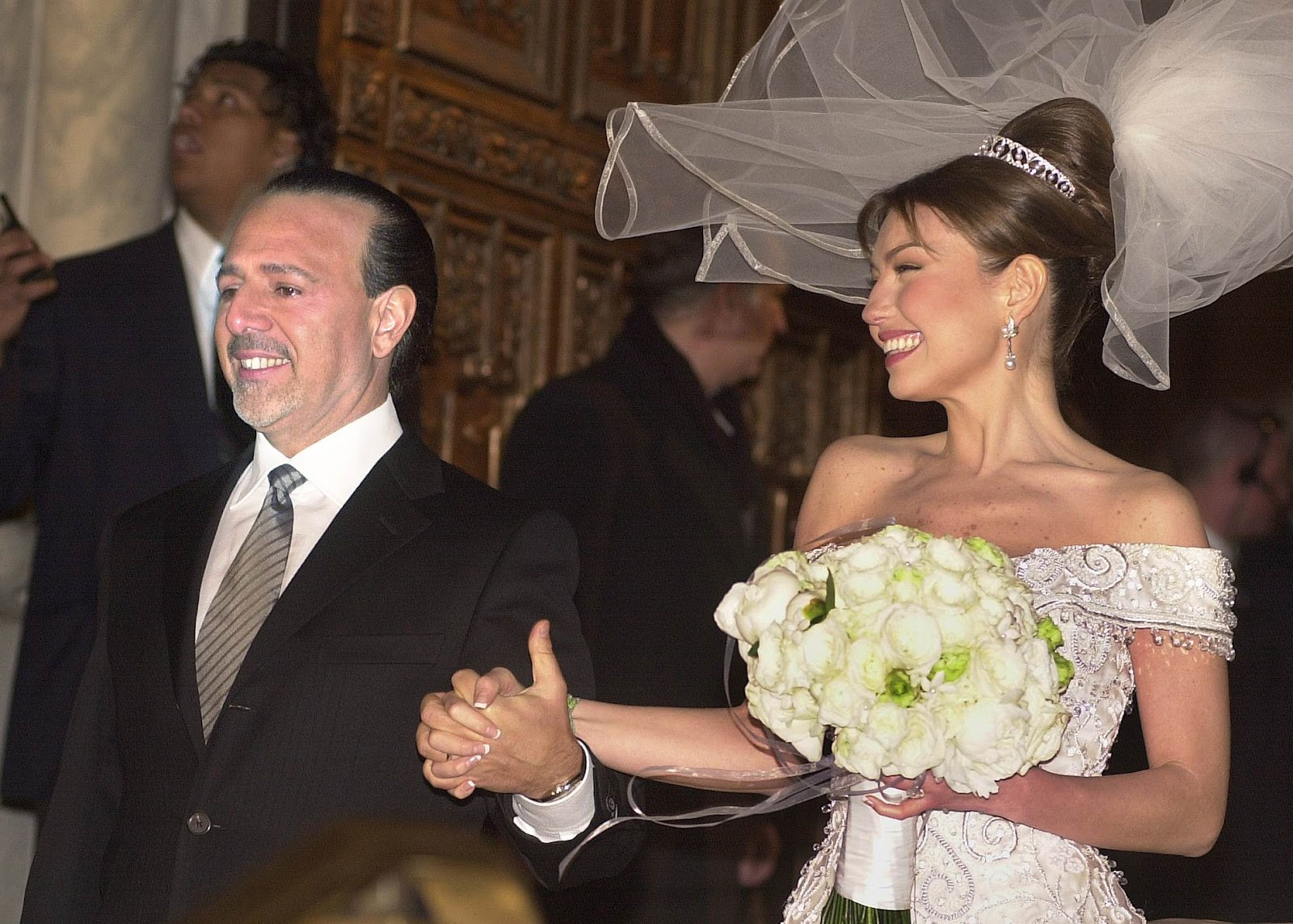 Red Carpet Wedding Thalía And Tommy Mottola
