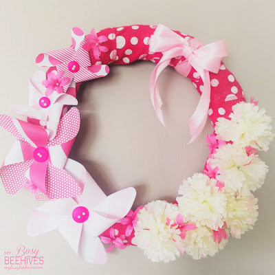 Pretty in Pink Pinwheel Wreath