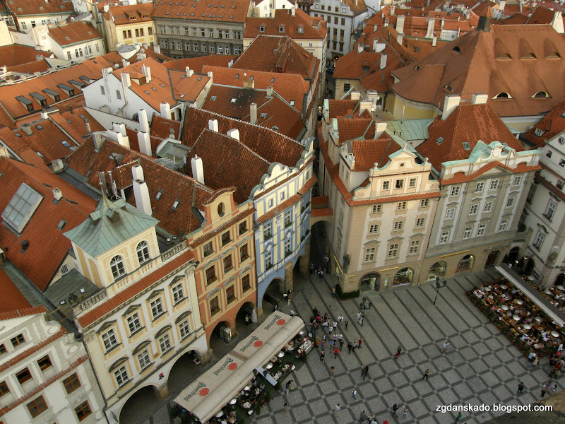 Praga - Widok z wieży ratuszowej