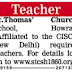 St Thomas Church School, Howrah, Wanted Teachers