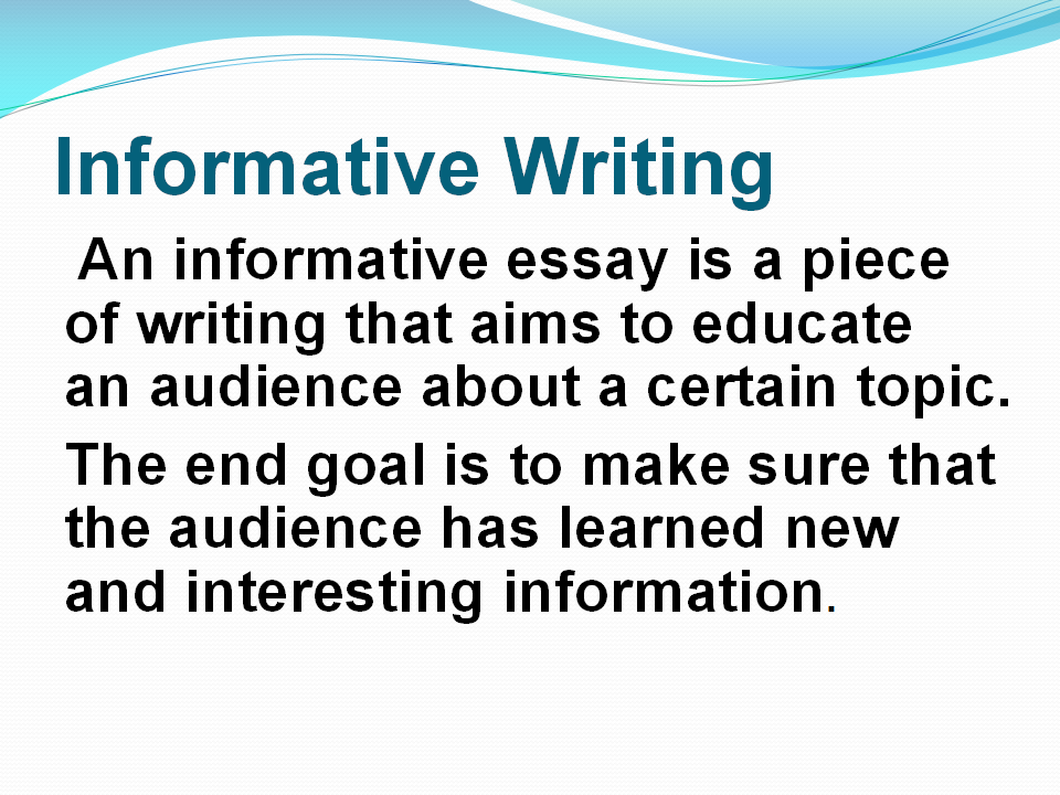 essay informational Essays are shorter pieces of writing that often require the student to hone a number of skills such as close reading, analysis, comparison and contrast, persuasion, conciseness, clarity, and exposition.