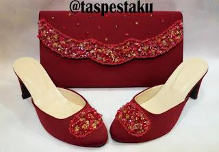 Tas Pesta Clutch Bag Dompet Merah Maroon Unik dan Cantik