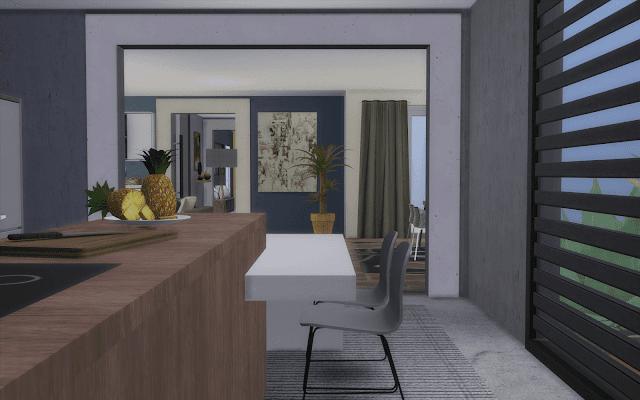 cuisine grande famille Sims 4