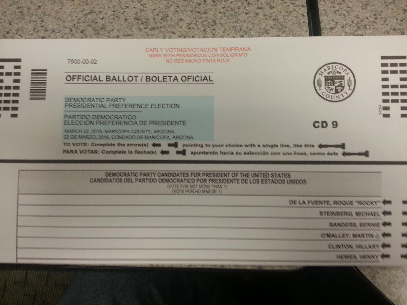 Ballot time in Arizona: Presidential primary edition | Blog