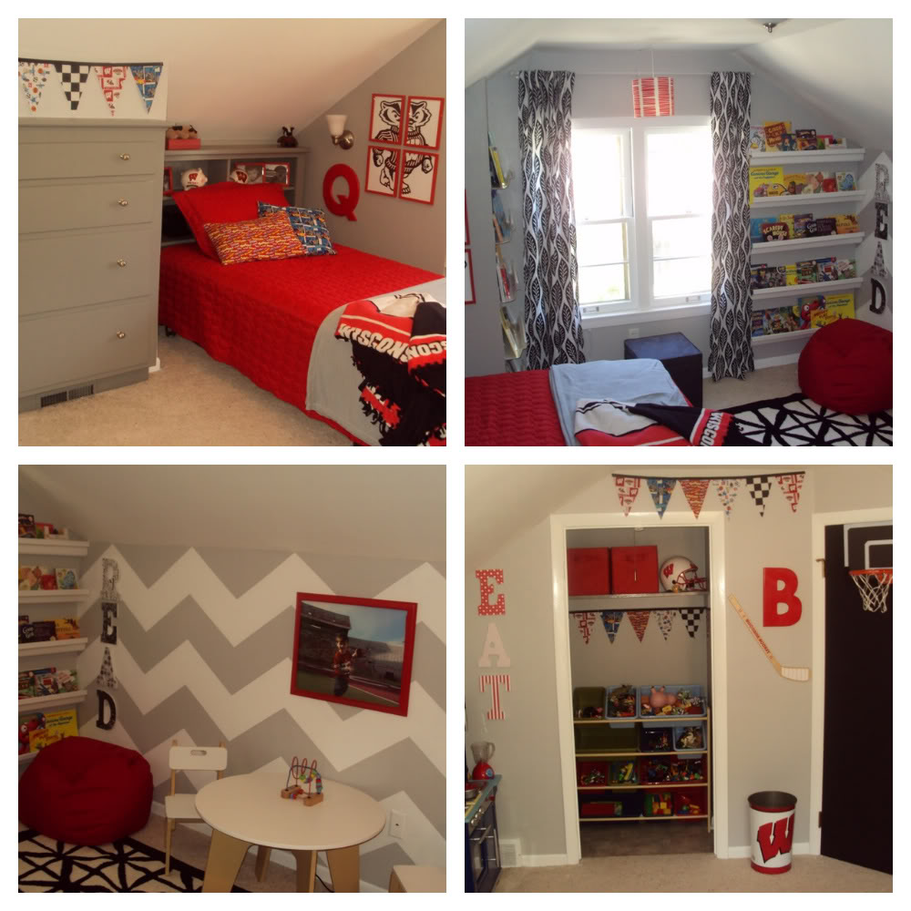 Boys Bedroom Decor: Creative Small Space Kids Room Design With Awesome Bunk