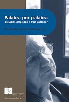 Palabra por palabra, estudios ofrecidos a Paz Battaner