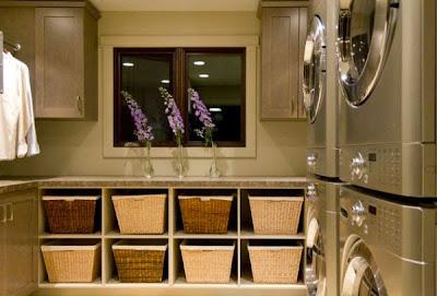 cestas en cuarto lavado