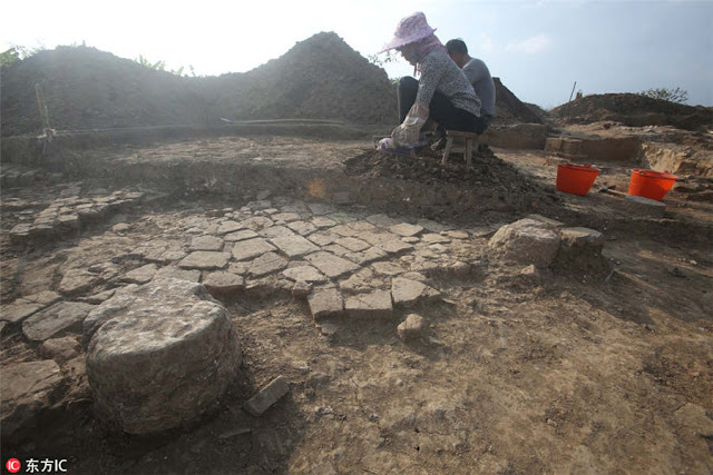 Rescue excavation underway for Nanning's Zhenjiang Building ruins