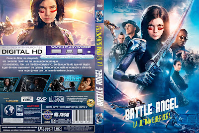 CARATULA - BATTLE ANGEL: LA ULTIMA GUERRERA - ALITA: THE LAST WARRIOR - 2019 [COVER DVD]