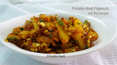 Potato And Peanuts Stir Fry