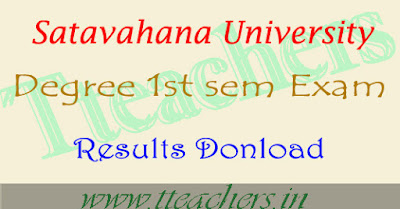 Satavahana University degree 1st year 1st sem results 2017
