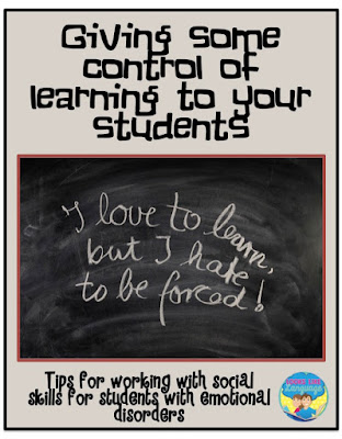 Tips for working on Social Skills with E.D. students