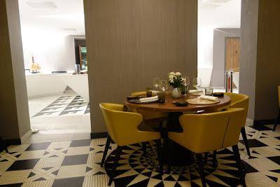 Intérieur du restaurant La Table de Marcel de Marcel Ravin.