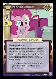 My Little Pony Ponyville Mailbox The Crystal Games CCG Card