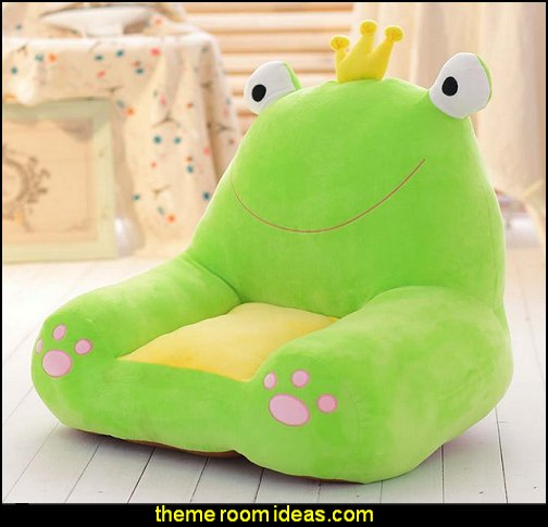frog prince plush chair -  child