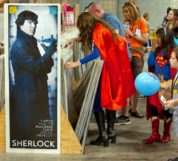 Benedict Cumberbatch Poster at Denver Comic Con, 2014