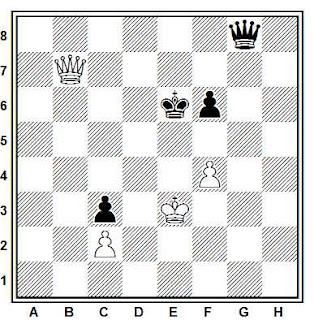 Estudio artístico de ajedrez compuesto por F. Prokop (1928)