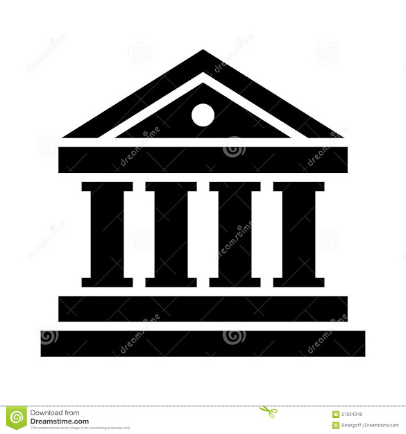 Bank Vector Icon Royalty Free Stock Images