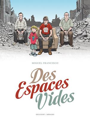 """couverture de """"DES ESPACES VIDES"""" de Miguel Francisco chez Delcourt"""