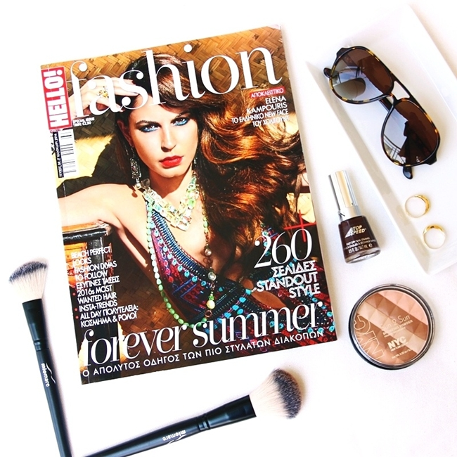 Jelena Zivanovic Instagram @lelazivanovic.Glam fab week.Revlon top speed nail polish.Hello fashion Greece.NYC bronzer.Sundried sunglasses.