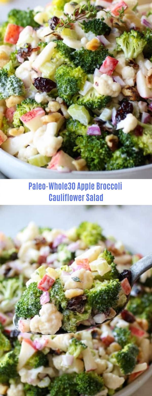 Paleo -Whole30 Apple Broccoli Cauliflower Salad