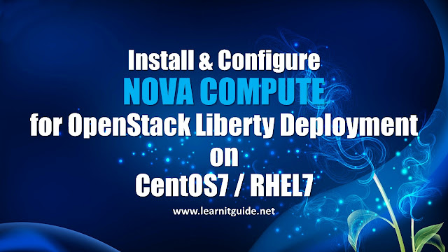 Install and Configure NOVA Compute on CentOS7