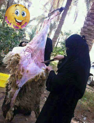 Girl With Qurbani Bakra