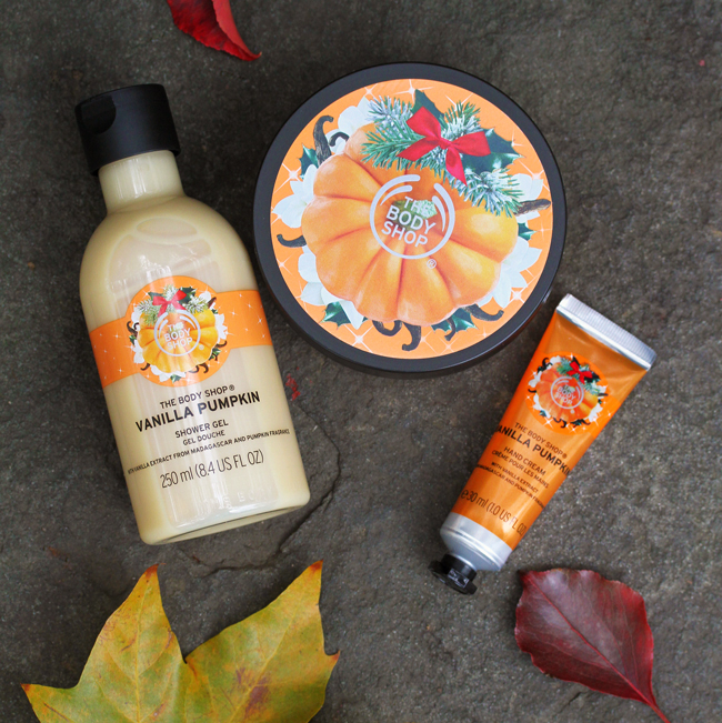 Body Shop Vanilla Pumpkin Collection