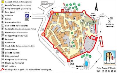 Plano turístico La Couvertoirade