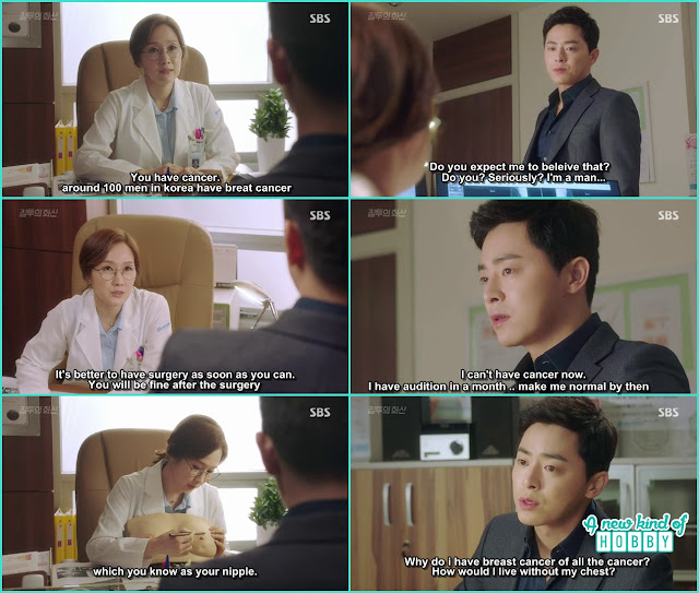 hwa shin has breast cancer he need a surgery  - Jealousy Incarnate - Episode 3 Review - Hospital Encounter