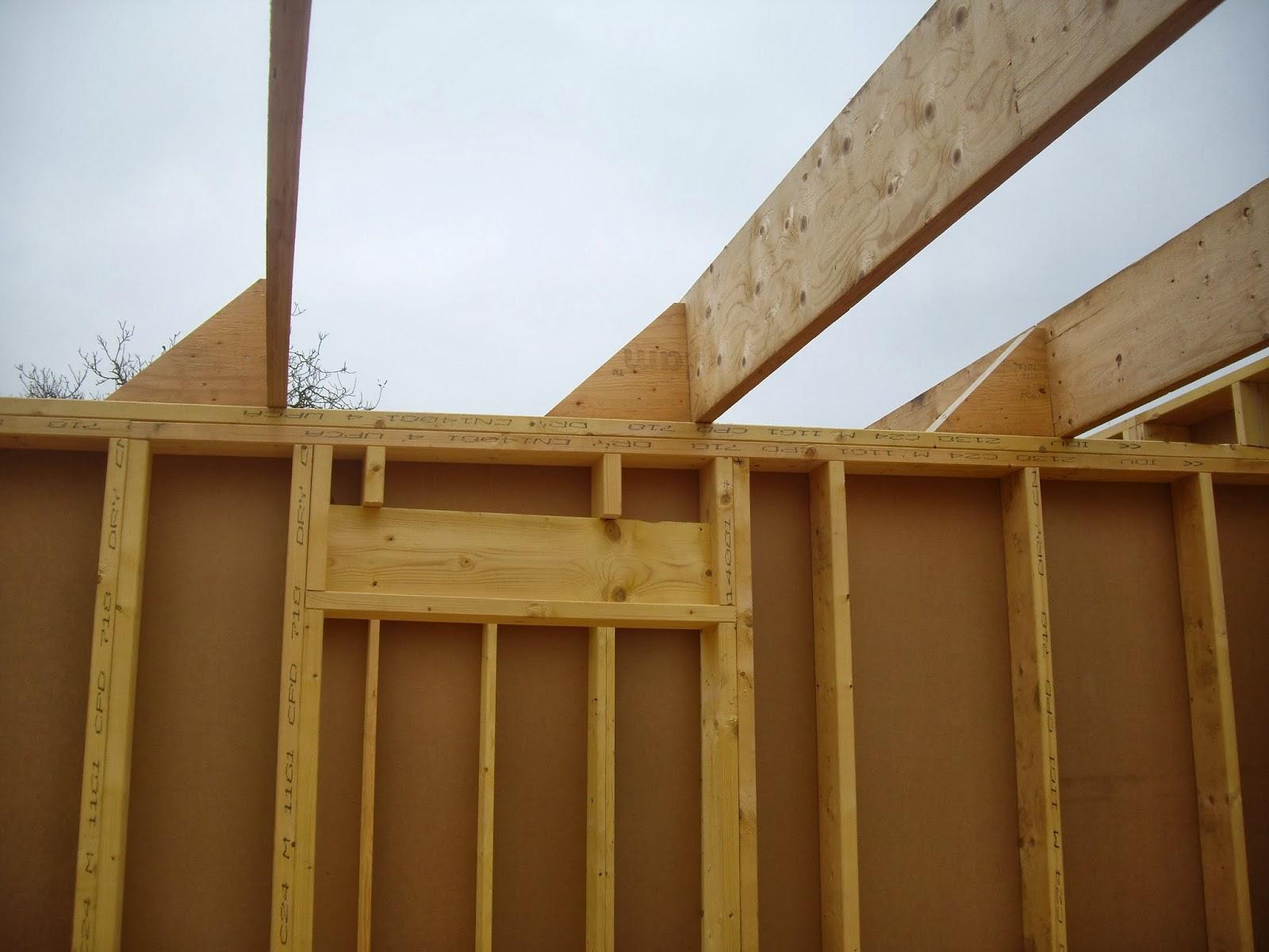 notre auto construction passive maison ossature bois m o b toiture plate maison. Black Bedroom Furniture Sets. Home Design Ideas