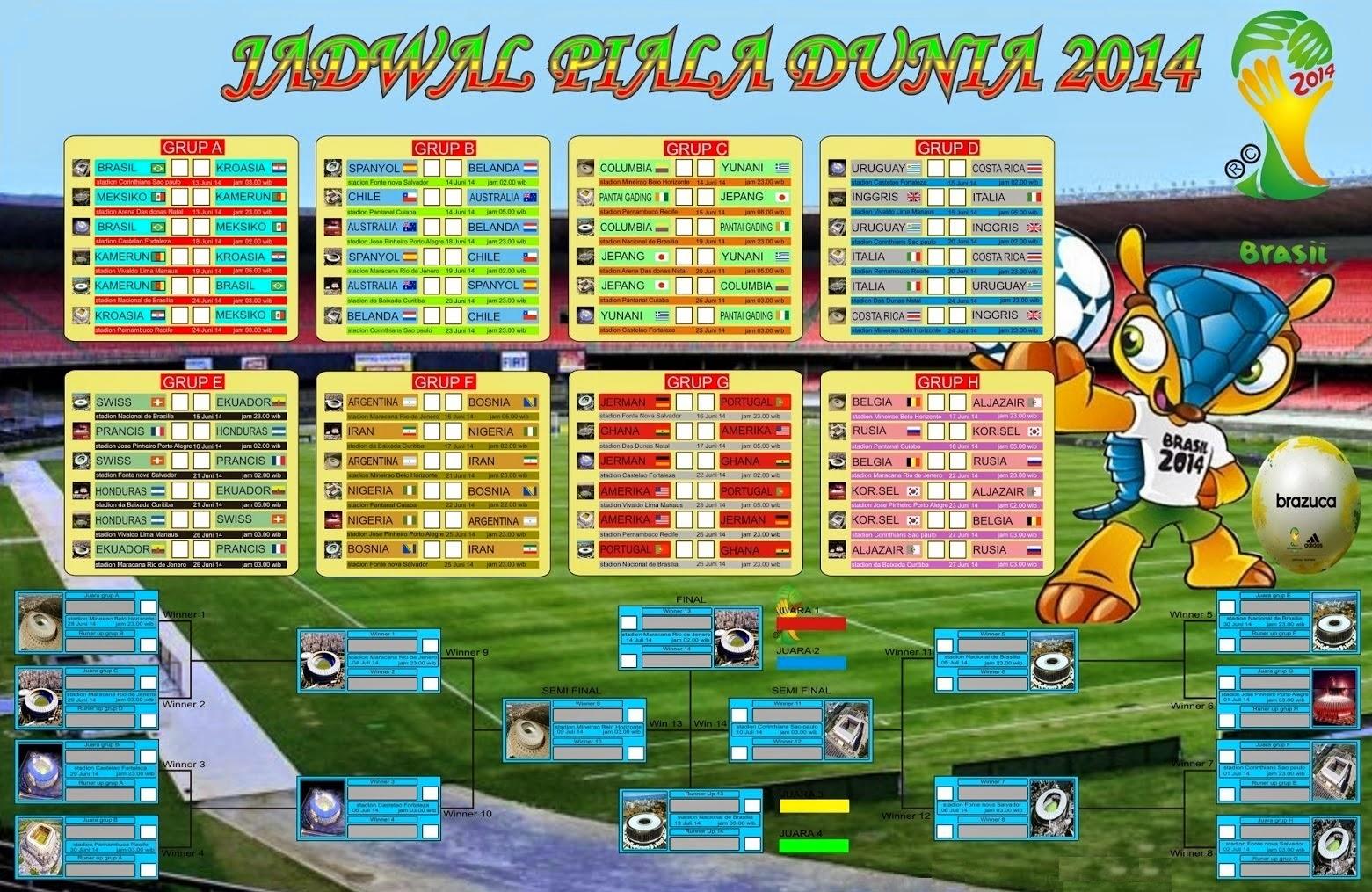 Download Skema Bagan Pertandingan Piala Dunia