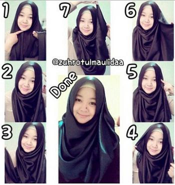 Tutorial Hijab Pashmina Satin 2017
