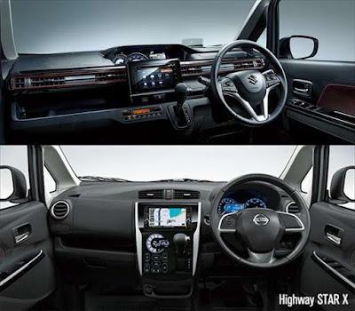 新型ワゴンRスティングレー デイズハイウェイスター 内装比較