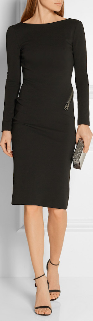 Tom Ford Open-Back Zip-Detailed Stretch-Jersey Dress