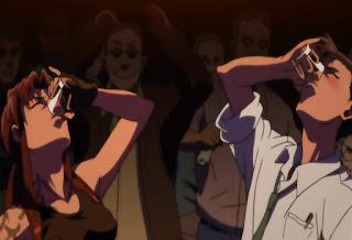 Revy i Rokurou pijący alkohol