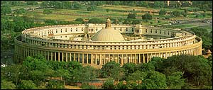 Indian Parliament Top View