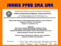 Juknis PPDB SD SMP SMA SMK Daerah Istimewa Yogyakarta Tahun 2017/ 2018 Lengkap