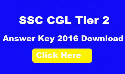 SSC CGL Tier 2 Answer Key 2016
