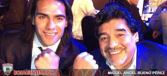 Falcao se llevó trofeo y el reloj de Maradona en Dubai | Rosarienses, Villa del Rosario