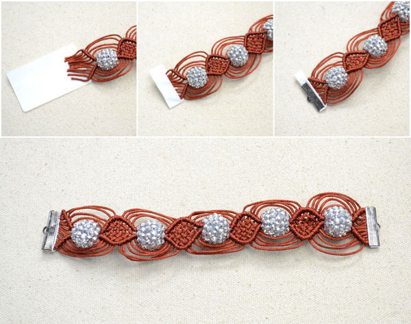 instructions for making a shamballa bracelet