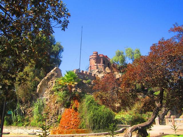 Parque Cerro Santa Lucía em Santiago